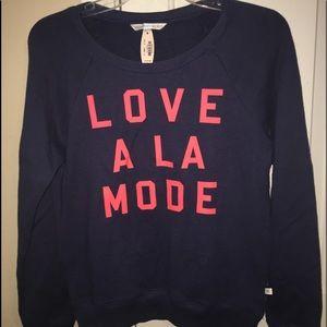 Victoria's secret angels sweatshirt love xs